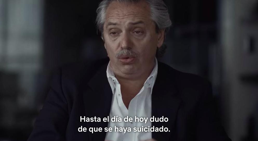 """Alberto Fernández opina sobre el documental de Netflix sobre la muerte de Nisman: """"Hasta el día de hoy, dudo que se haya suicidado"""""""