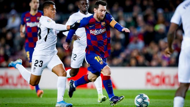 Con gol de Messi, Barcelona venció al Granada en el debut de Setién y se mantiene en la cima de La Liga