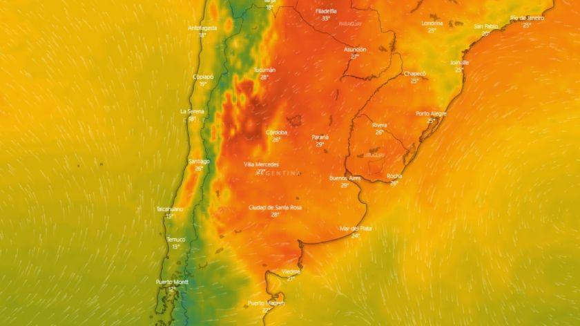 Alerta por tormentas fuertes y caída de granizo para la Ciudad de Buenos Aires y el centro del país