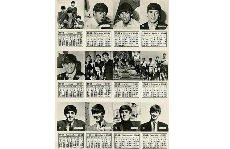Por qué este calendario de los Beatles de 1964 puede volver a usarse en 2020