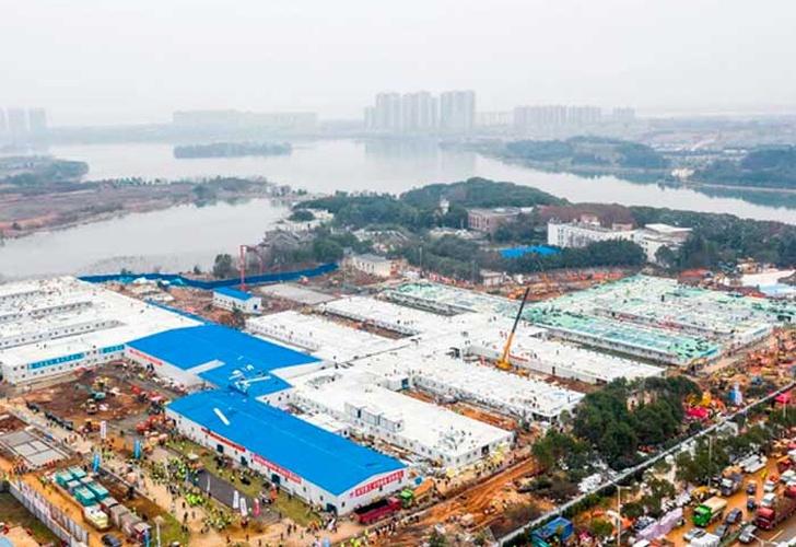 China: terminó en 10 días la construcción del hospital de Wuhan y comenzará a recibir pacientes con coronavirus
