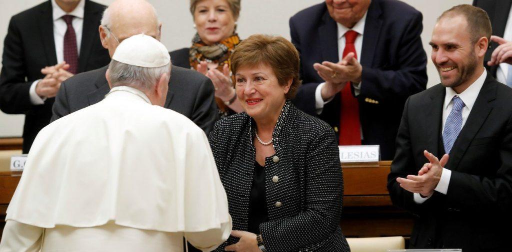 La titular del FMI habló sobre la Argentina en el Vaticano.