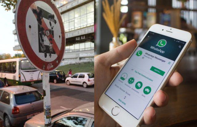 Ya se se puede consultar por Whatsapp dónde está permitido estacionar el auto