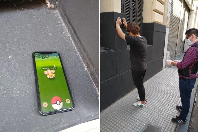 Detuvieron a un hombre que jugaba al Pokemon Go en la calle en plena cuarentena